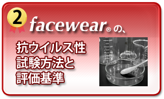 facewearの抗ウイルス性試験方法と評価基準